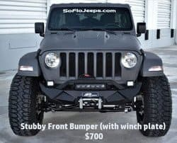 Stubby Front Bumper (with winch plate)- $700