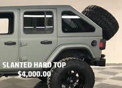 Slanted Hard Top- $4,000.00