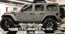 BIGGER: 3.5 in. lift with 37 in. tires- $3,450.00
